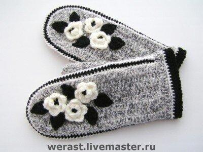 вязание варежек и митенок
