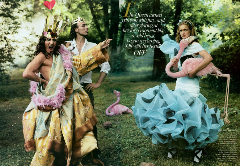 Наталья Водянова / Natalia Vodianova by Annie Leibovitz as Alice Liddell in Vogue 2003