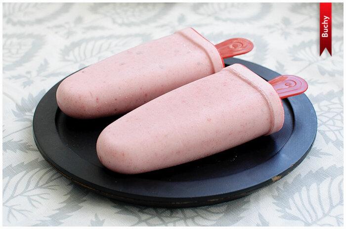 домашнее бананово-клубничное мороженое фото рецепт