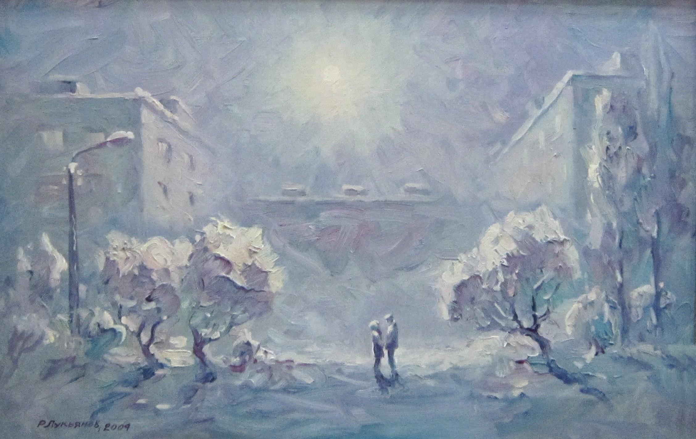 Рафаэль Ливериевич Лукьянов (род. в 1947 году). Двое в городе. 2004 год.