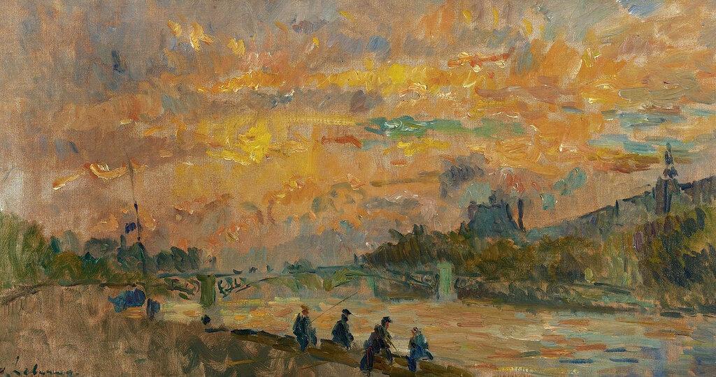 Albert Lebourg - The Bridge of Saint-Peres at Paris, the Sunset.jpeg