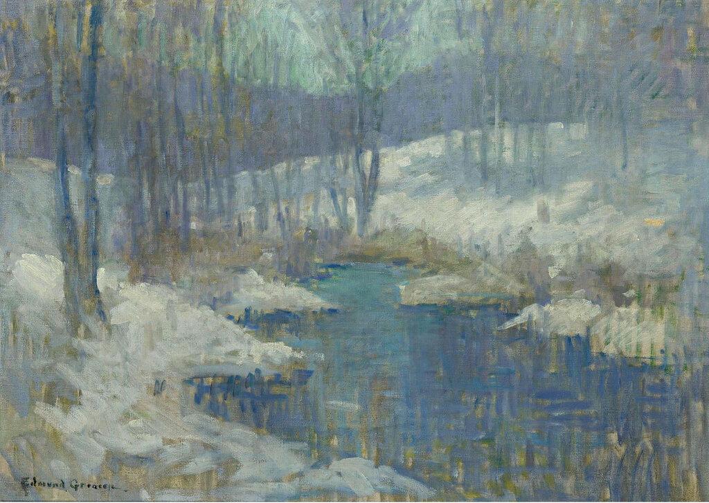 Edmund William Greacen - Winter Stream, 1920.jpeg