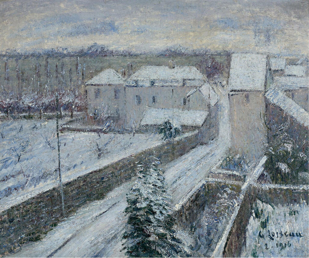 Gustave Loiseau - View of Triel under the Snow, 1916.jpeg