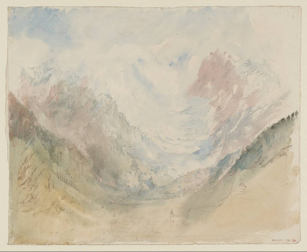 Alpine Village after circa 1830 by Joseph Mallord William Turner 1775-1851