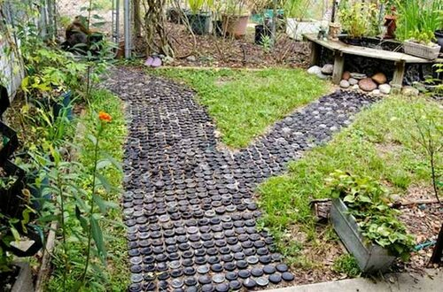 Дорожки в саду или во дворе с фантазией