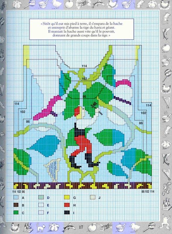 Одиннадцать схем для вывязывания на спицах картинок.  Размеры картинок даны для разного возраста детей.