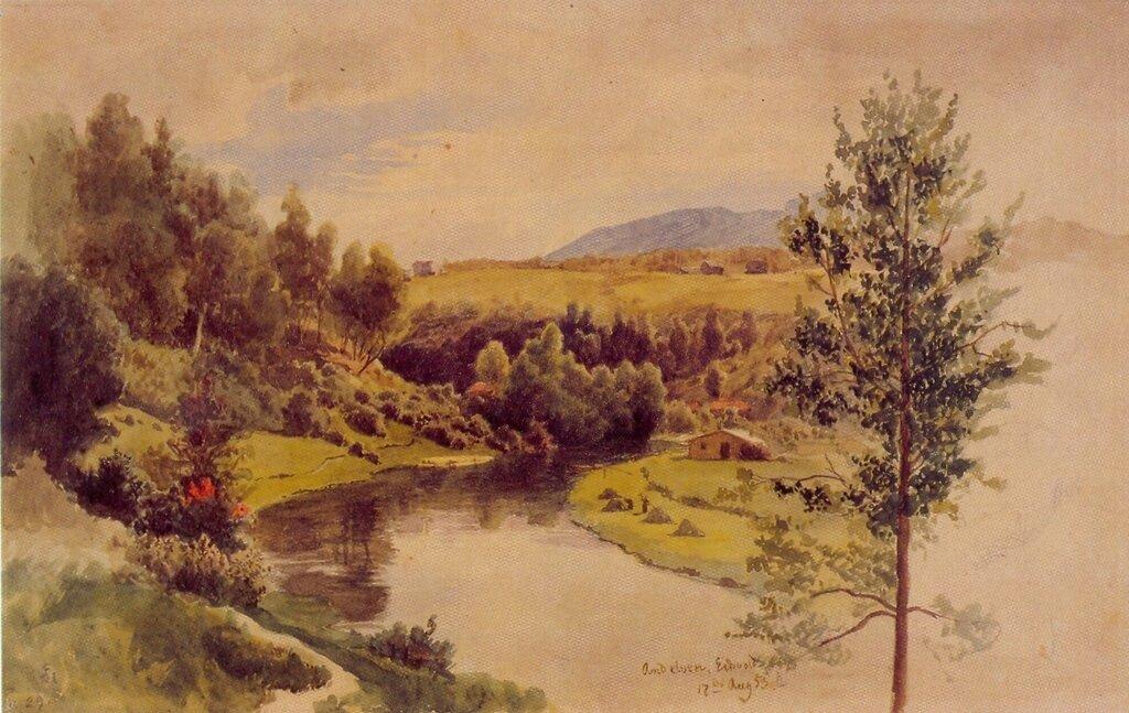 Hans Gude--Andelven, Eidsvold--1853.jpg