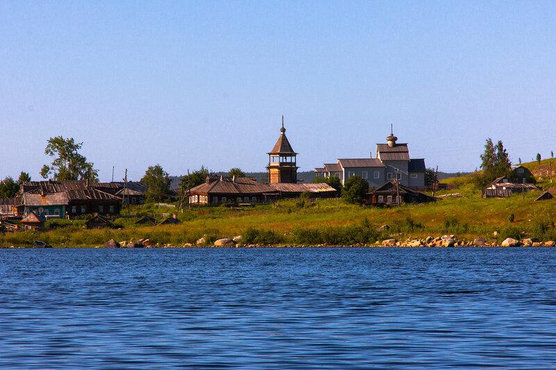 Село Ковда. Вид с озера Низовского