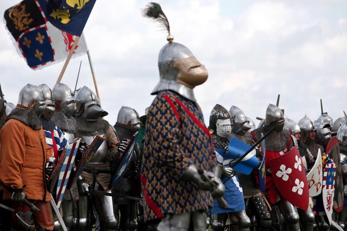 Эпизоды Столетней войны: Реконструкция битвы при Азенкуре в Северной Франции (9)