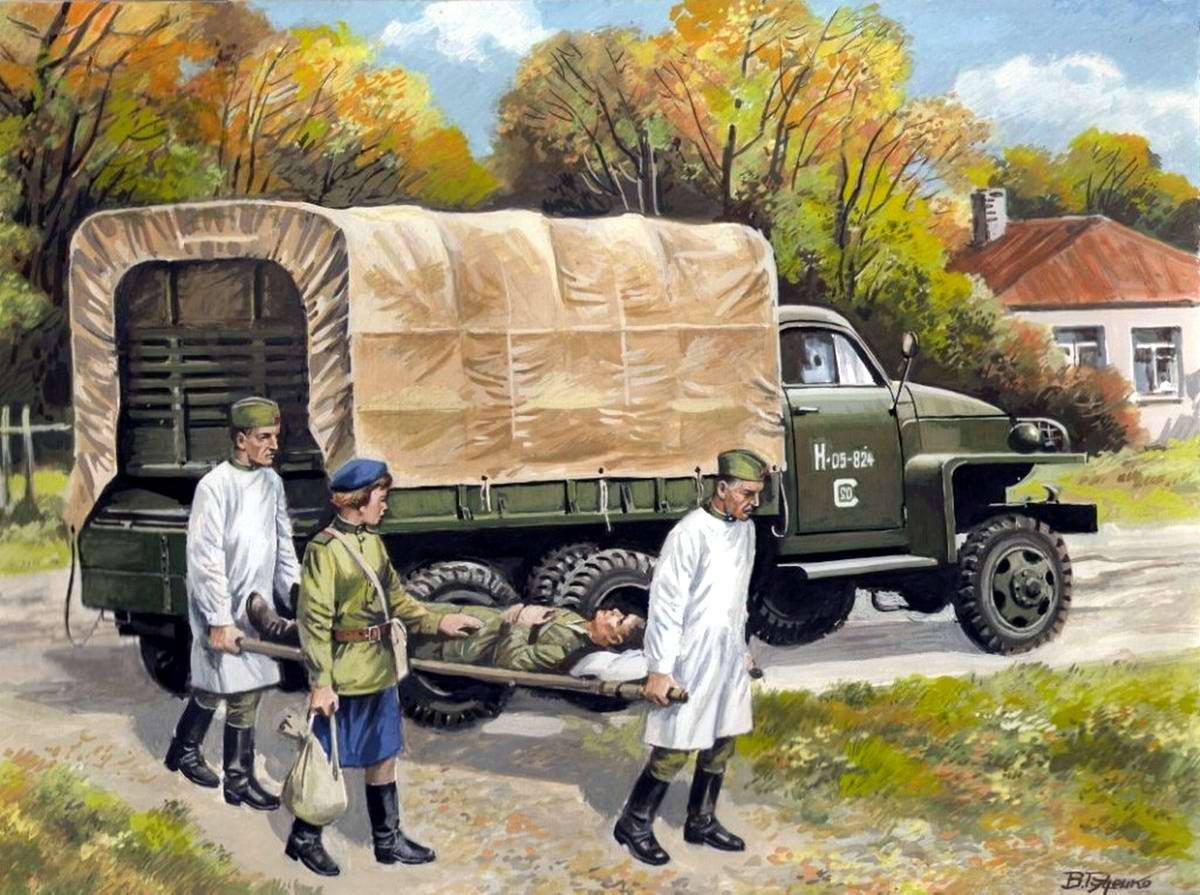 Армейский грузовой автомобиль Studebaker US6