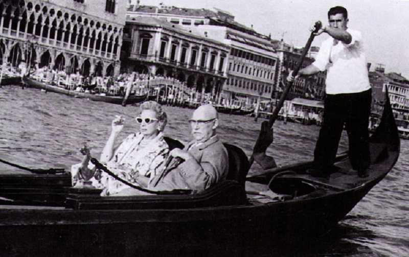 Baroness Kuffner - Tamara with her second husband, Raoul Kuffner, Venice 1962