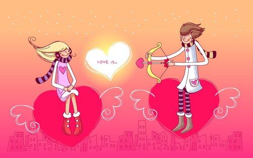 день валентина фоны,обои