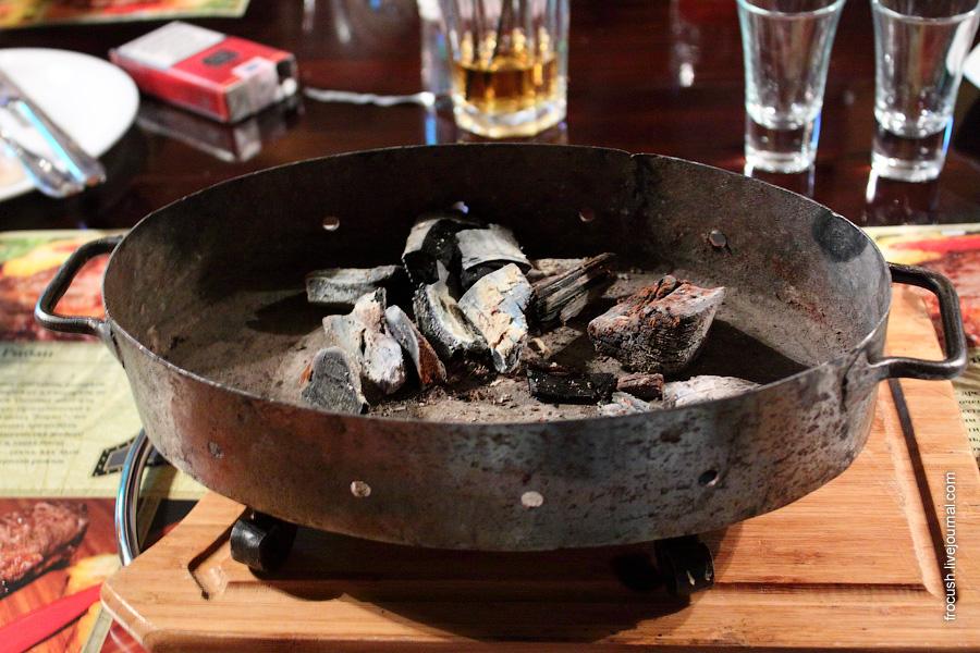 Мини-жаровня с углями