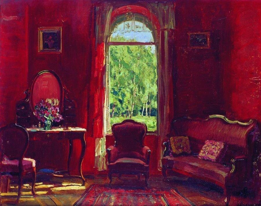 С. Ю. Жуковский. Красная гостиная