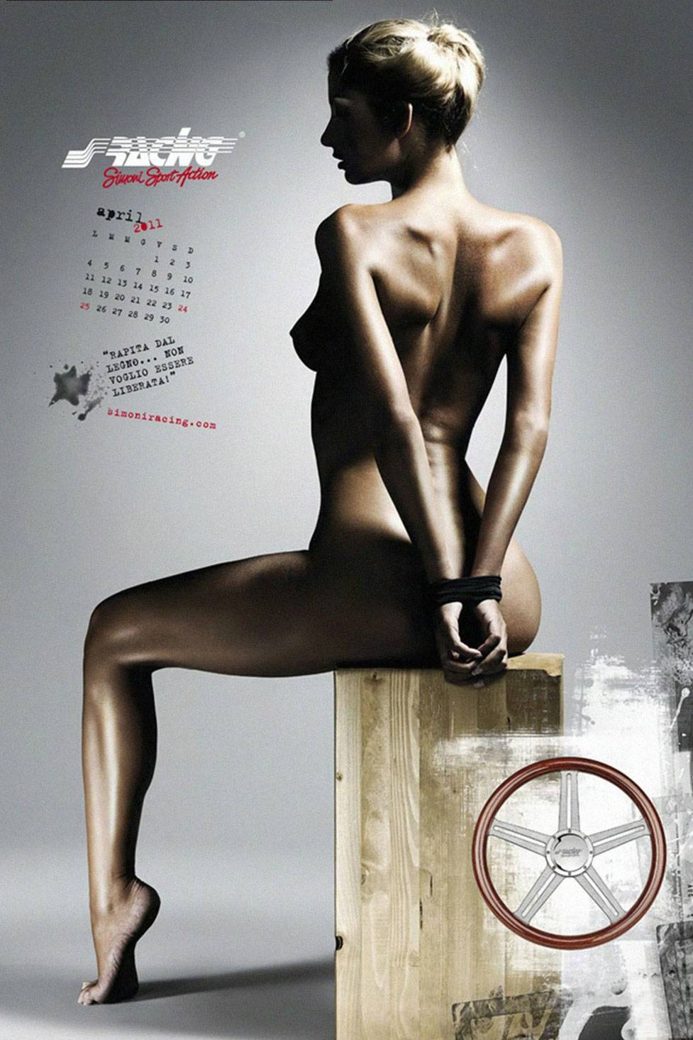 Giada Bellodi for Simoni Racing calendar 2011