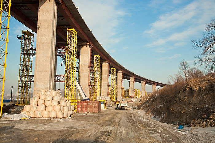 Владивосток мост на остров русский