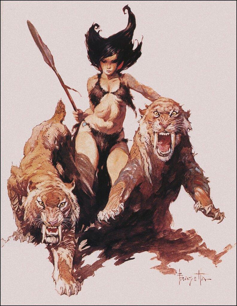 Frazetta Huntress Savage Pellucidar