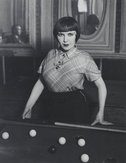 Girl Playing Snooker, 1933 by Brassai