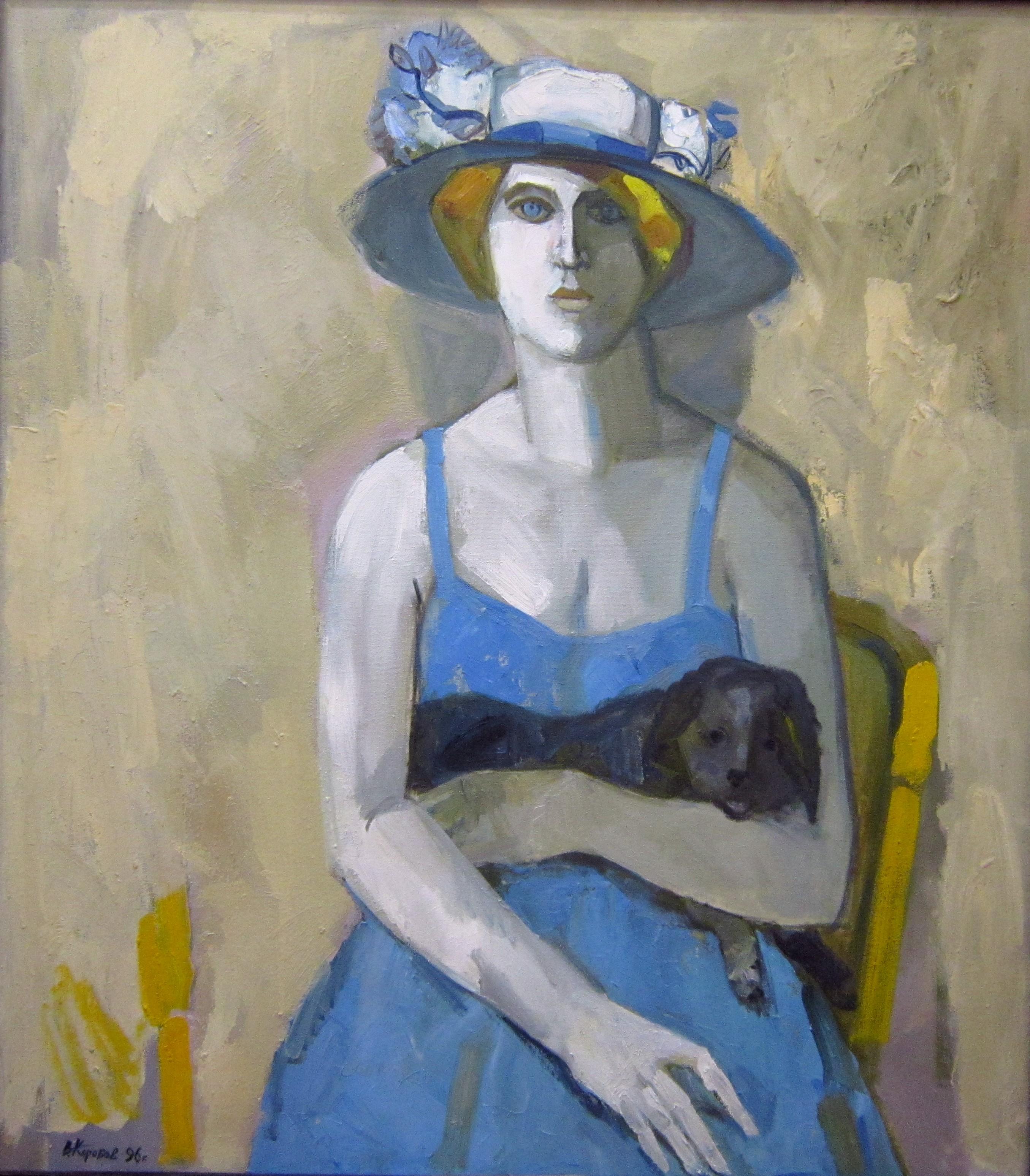 Виталий Фёдорович Коробов (род. в 1937 году). Дама с собачкой. 1996 год.