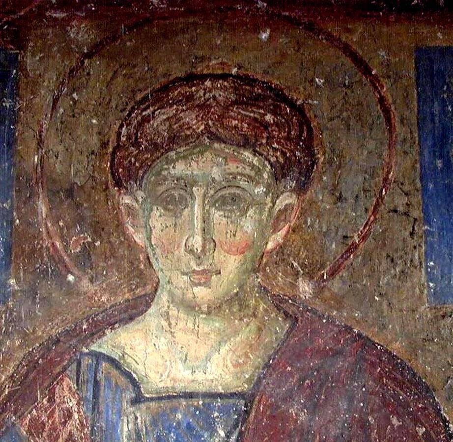 Святой Первомученик Архидиакон Стефан. Фреска монастыря Милешева (Милешево), Сербия. До 1228 года.