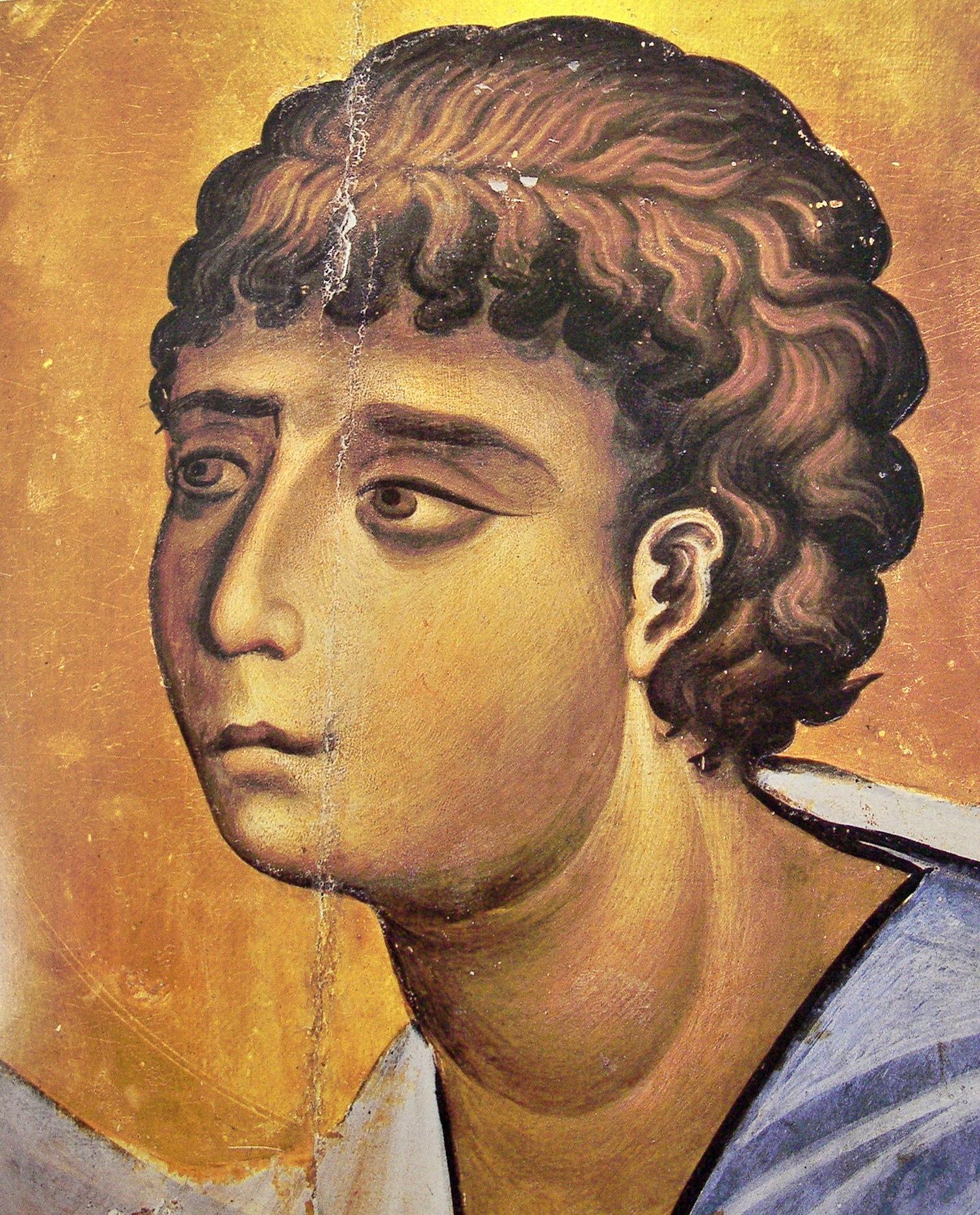Святой Пророк Моисей. Икона. Вторая половина XI века. Монастырь Св. Екатерины на Синае. Фрагмент.
