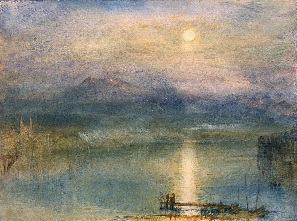 Moonlight on Lake Lucerne with the Rigi in the Distance, Switzerland, 1841.jpg