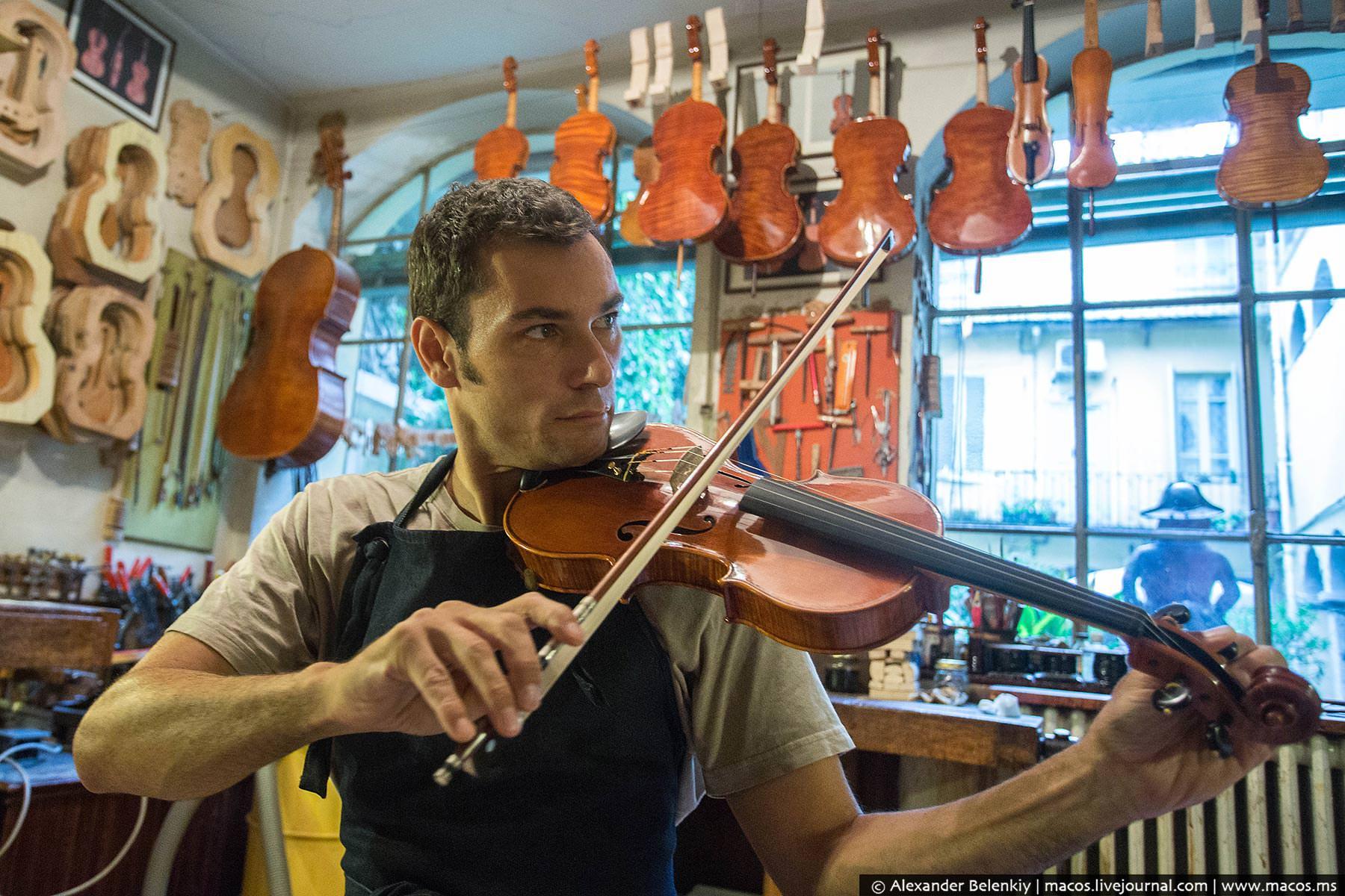 Как делают скрипки в Италии