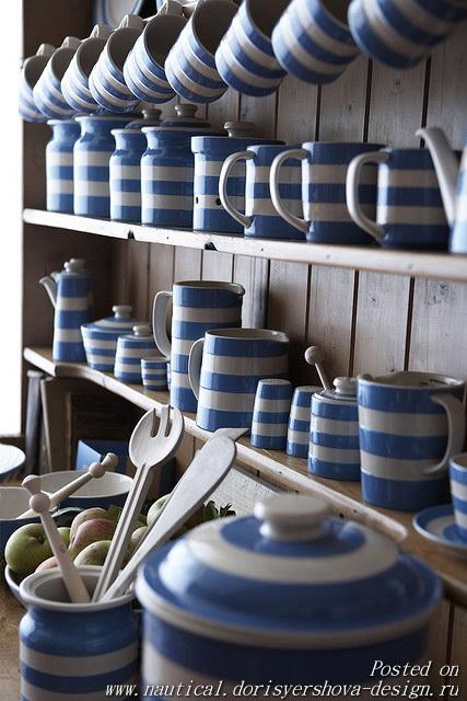 полосатая посуда