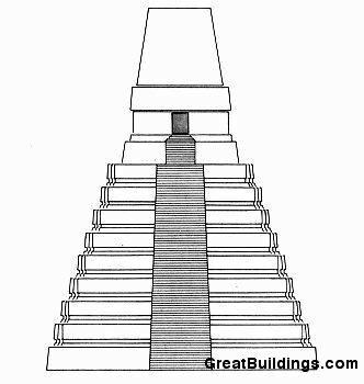Храм 1, главный фасад ,Тикаль