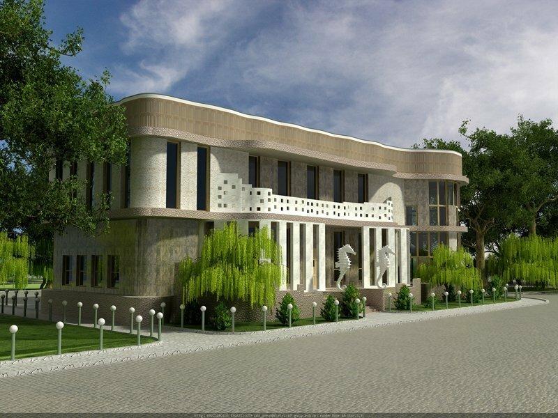 Проект частного дома. Фасад 2