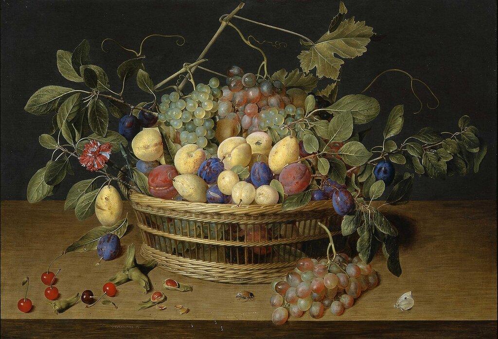Jacob van Hulsdonck - Fruit in a Basket on a Table - 99079-20.jpg