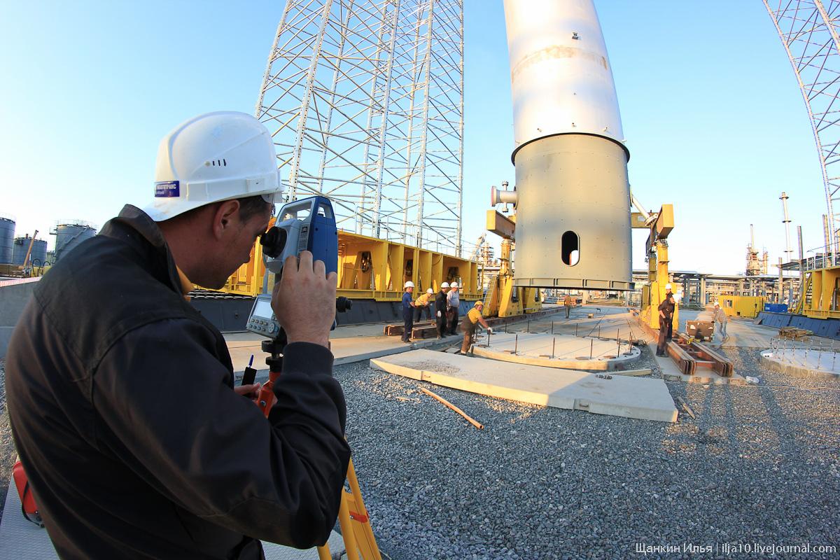 Как поднять реактор весом 400 тонн и более