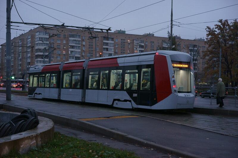 Низкопольный московский трамвай
