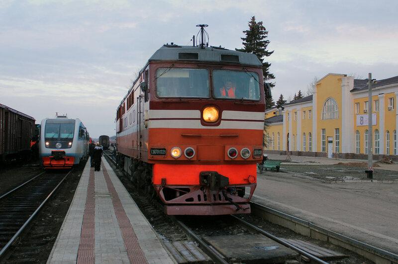 ТЭП70-0339 на станции Великие Луки