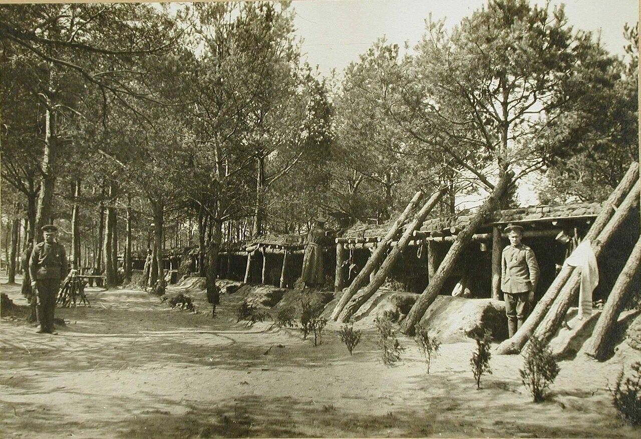 13. Общий вид защитных сооружений для I-го эскадрона гусарского полка