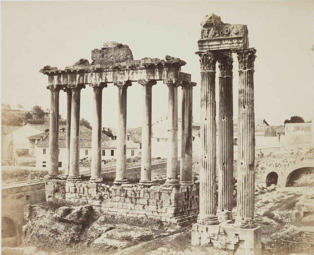 Храм Конкордии на римском форуме. 1860.