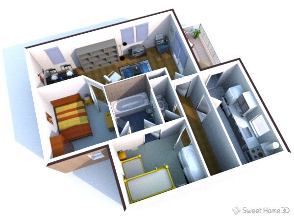 Интерьера Sweet Home 3D 3.0) бесплатная программа для помощи в