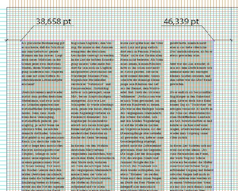 Блоки строк и колонок