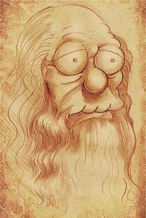 Смешная картинка леонардо да винчи