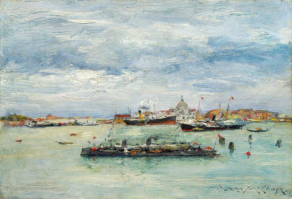 Gray Day on the Lagoon (A Passenger Boat — Venice), 1913.jpg