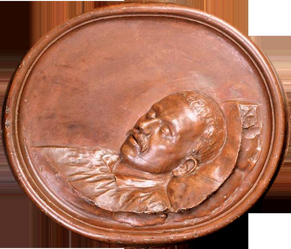 + М.Ю.Лермонтов на смертном одре. М.И.Цейдлер. 1884 г. Рельеф. Гипс, тонированный под бронзу..png