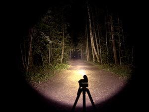 Подствольный  охотничий фонарь - EagleTac T25C2 NW XM-L2 T6 светит так: Средний режим, iso 200