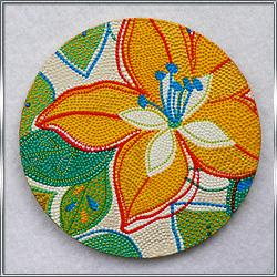 Сувенирная подставка под чашку Лилия