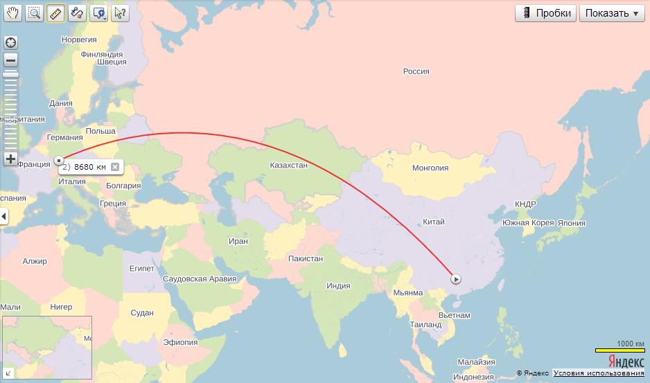 Китая с Германией.