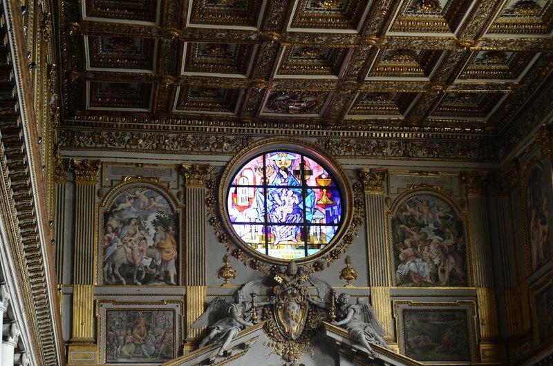 Na igreja de Maria Maggiore