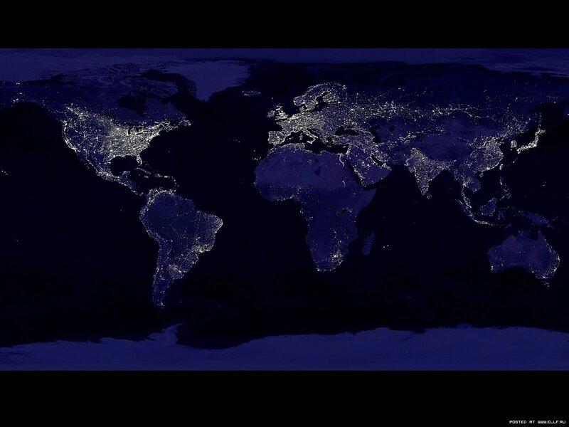 30. Земля ночью