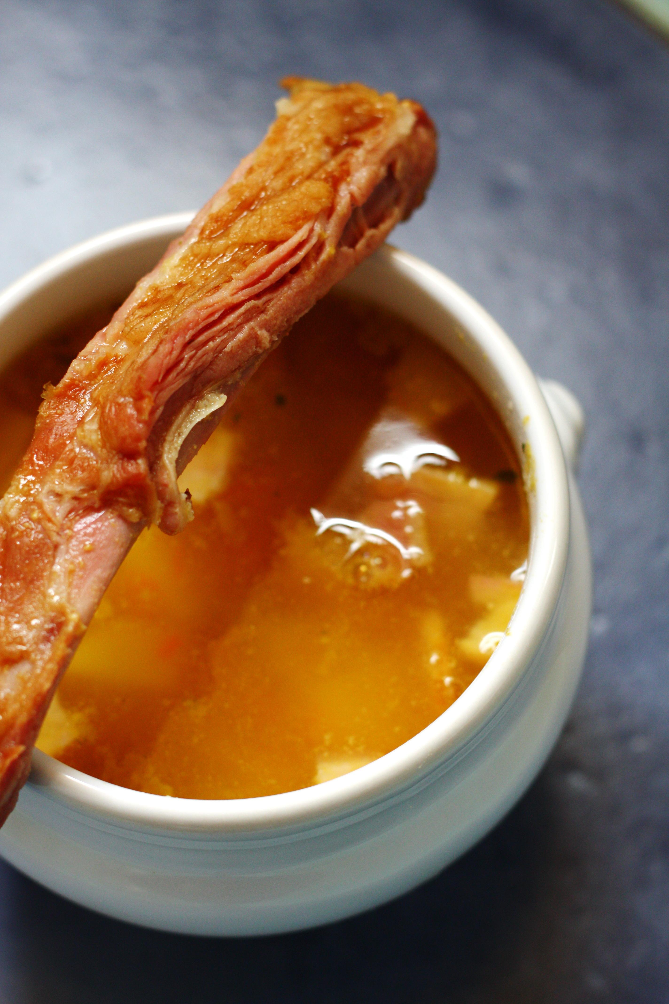 Суп из чечевицы и копченых ребер рецепт пошагово