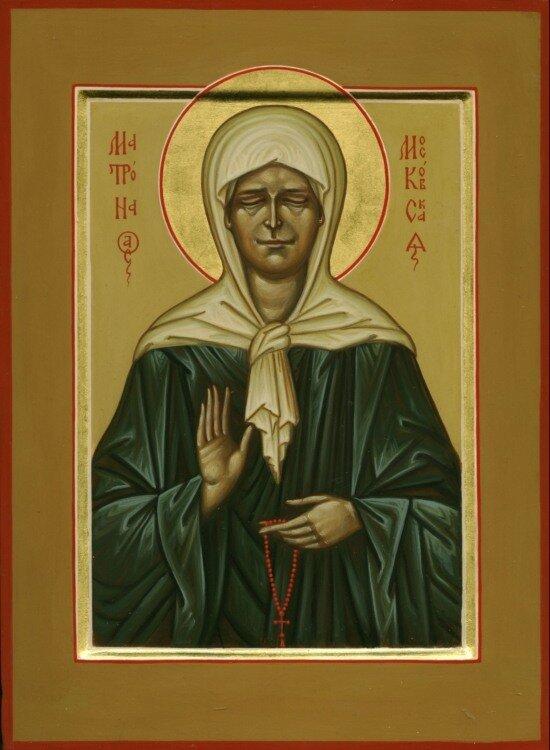 Помните что канонически правильно изображать святую Матрону Московскую на иконах с закрытыми глазами так как она была...