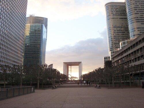 арка дефанс, париж, франция