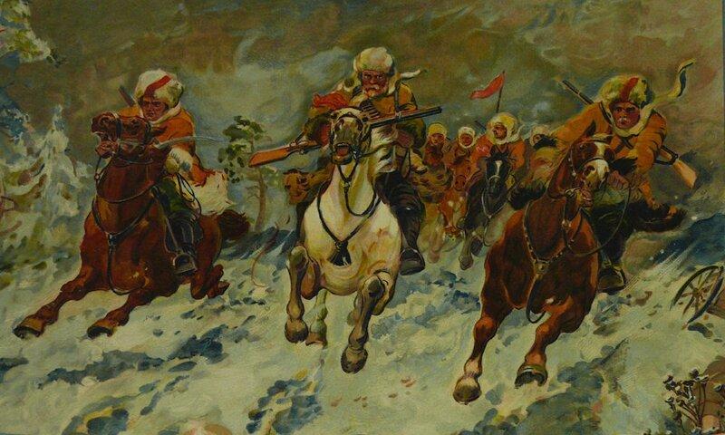 А. М. Герасимов. Красные партизаны в атаке на Колчака.1930